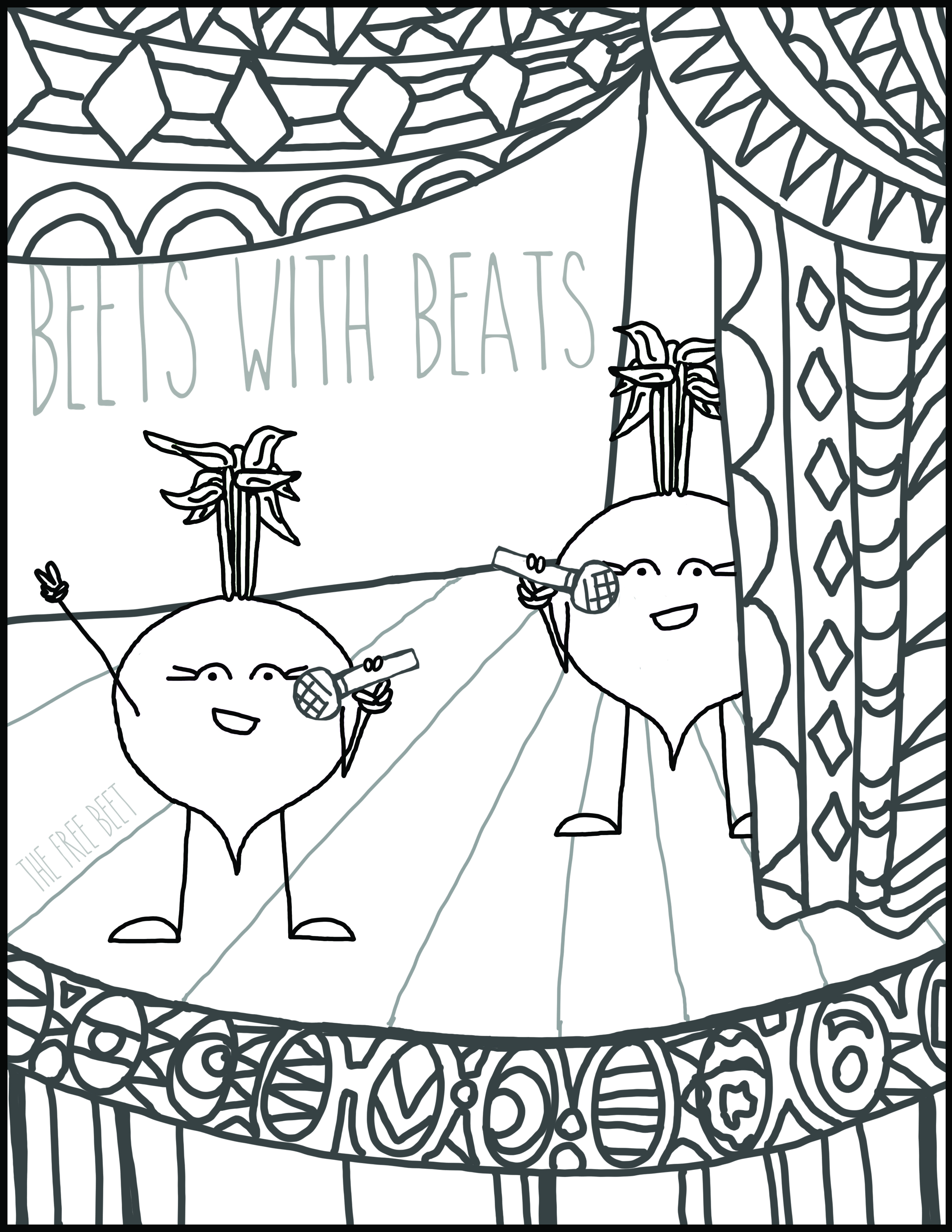 Free Coloring Page Beets With Beats